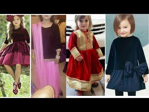 cab9f8c8f5 Latest velvet dress designs for kids/Latest Dress Design for winter/Dress  Design 2017-2018