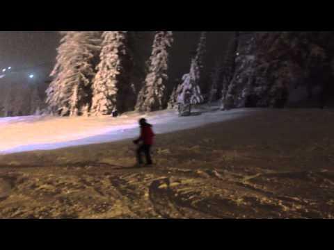 Telemark Night Ski Whitefish Mt. Montana