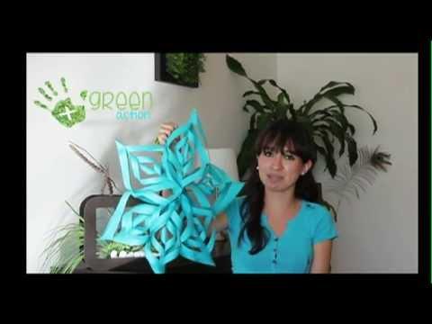 Tutorial estrellas de papel peri dico youtube - Estrellas de papel ...