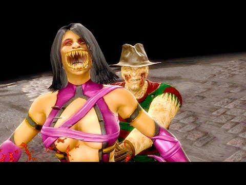 Mortal Kombat 9 - All Fatalities & X-Rays on Mileena Costume 4 Skin Mod 4K Ultra HD Gameplay Mods