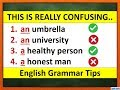How to Use Articles A and An | English Grammar | Learn To Speak In English | Self-Learning Video
