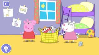 peppa pig messy cleaning