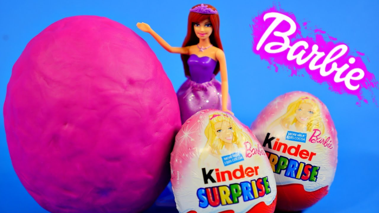 Kinder Chocolate Surprise Eggs Barbie My Little Pony Toys Play Doh ...
