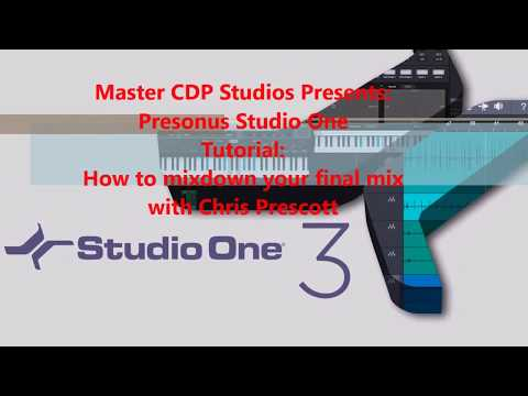 How to mixdown final mix inside Presonus Studio One