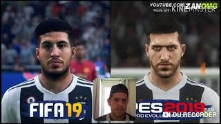 Reagindo!! A comparação de faces FIFA 19 vs pés 2019
