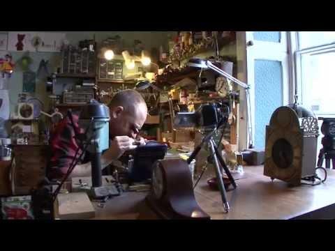 Third generation Clockmaker, Steve Fletcher at Clock Workshop, Witney, UKClock and Watch Repairs