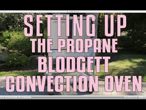Setting Up The Propane Blodgett Convection Oven YouTube