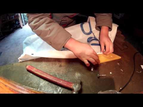 Как развальцевать люверс в домашних условиях