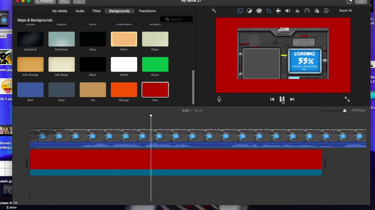 How to add a border to your video (iMovie)
