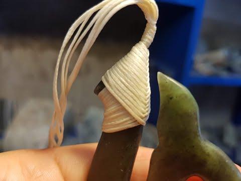 How To Tie A Maori Fish Hook, Snood Lashing.