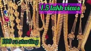 Temple jewellery starting  500 Parrys corner street side shops  / imitation jewellers cheapest price