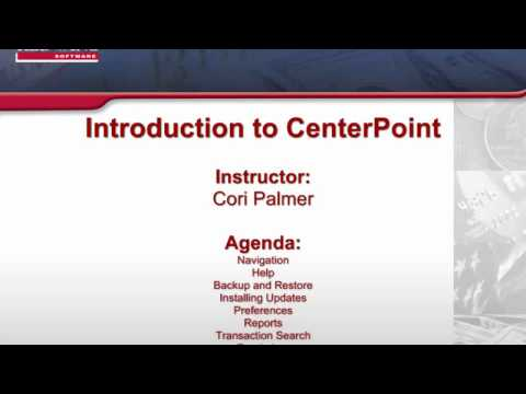 Introduction to CenterPoint