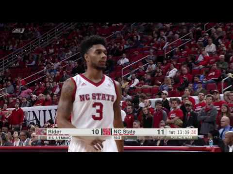2016.12.28 Rider Broncs at NC State Wolfpack Basketball