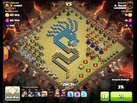 The dragon defense - Clash of Clans - Clan War Epic DEFENSE