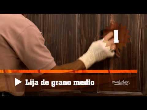 Restauraci n de puertas de madera youtube for Como pintar puertas de sapeli