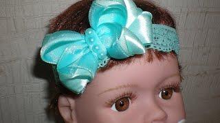 Бант своими руками. Повязка- резинка для малышки. /DIY / Make Hair Bow