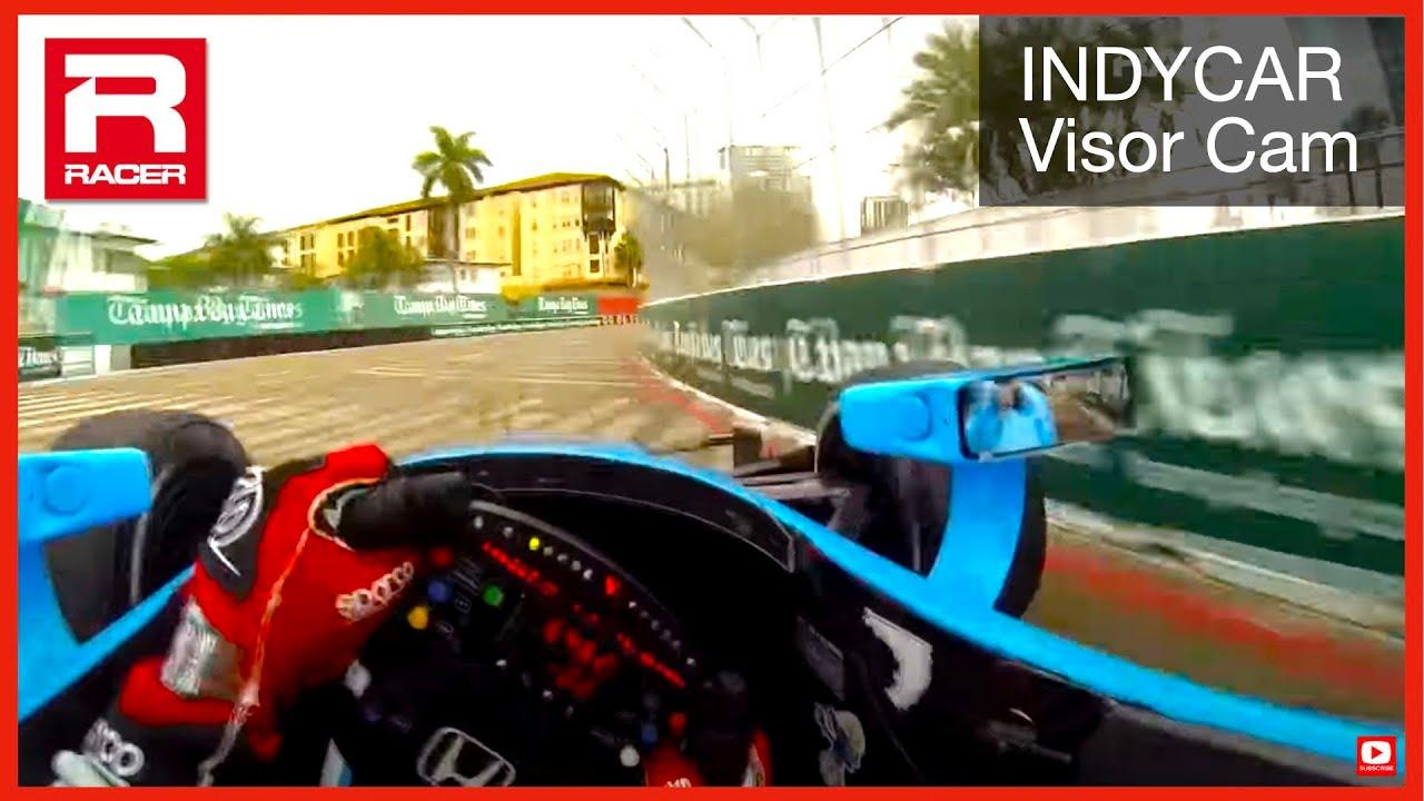 Car Cockpit Wallpaper Racer Simon Pagenaud Indycar St Pete Visor Cam 2014 Youtube