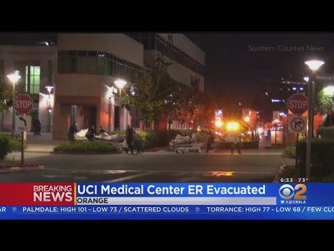 Patients Evacuated From Smoky ER At UCI Medical Center In Orange