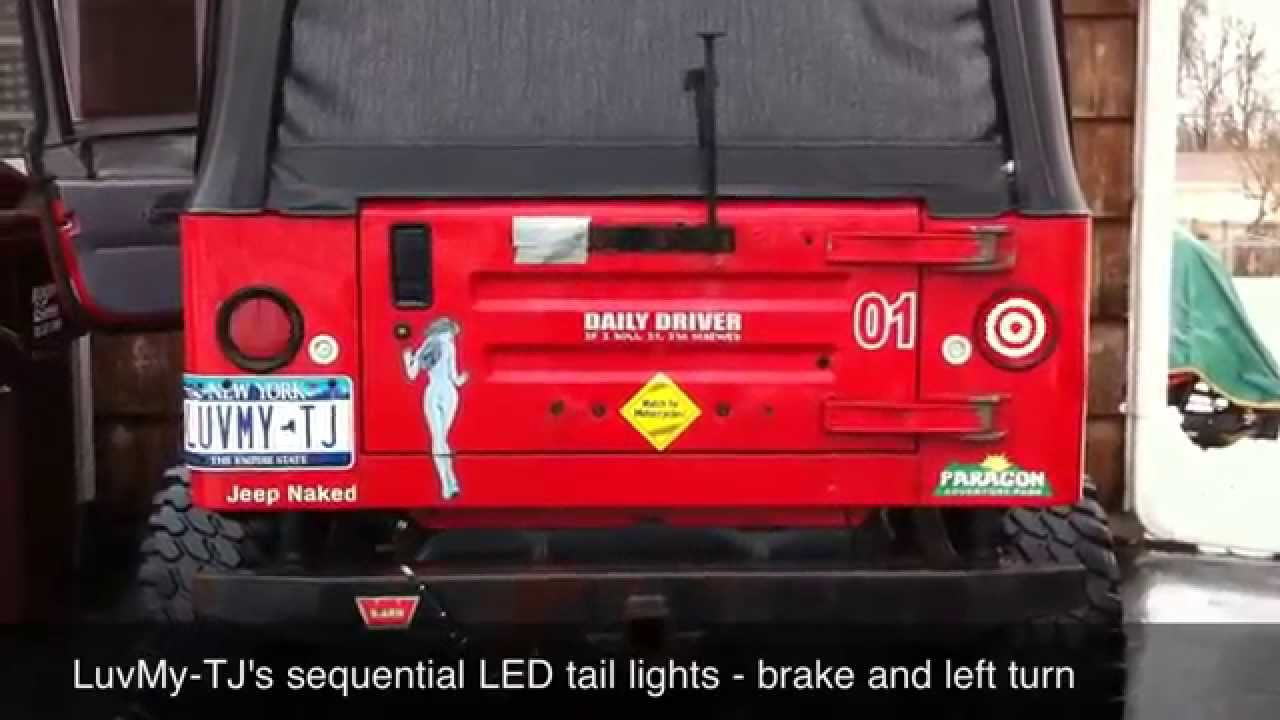 Sequential LED tail lights YouTube