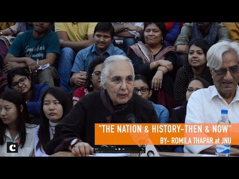 Lecture on Nationalism at JNU by Romila Thapar