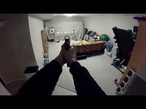 Shooting the Indoor Airsoft Plate Rack and Gongs AND the new gun!