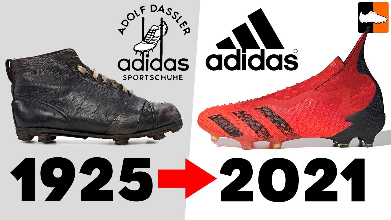 check out 55c8e 5cde3 The Evolution of Adidas Football Boots! Soccer Cleat History