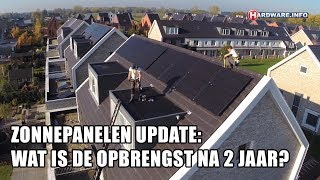 Zonnepanelen update: wat is de opbrengst na 2 jaar?