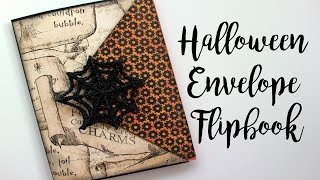 Witchy Halloween Envelope Flipbook // Collab with Halloween Happy | Serena Bee