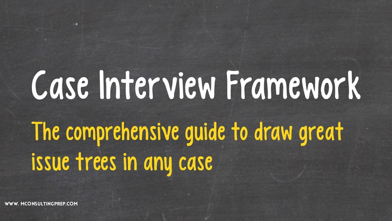 frameworks management consulting prep