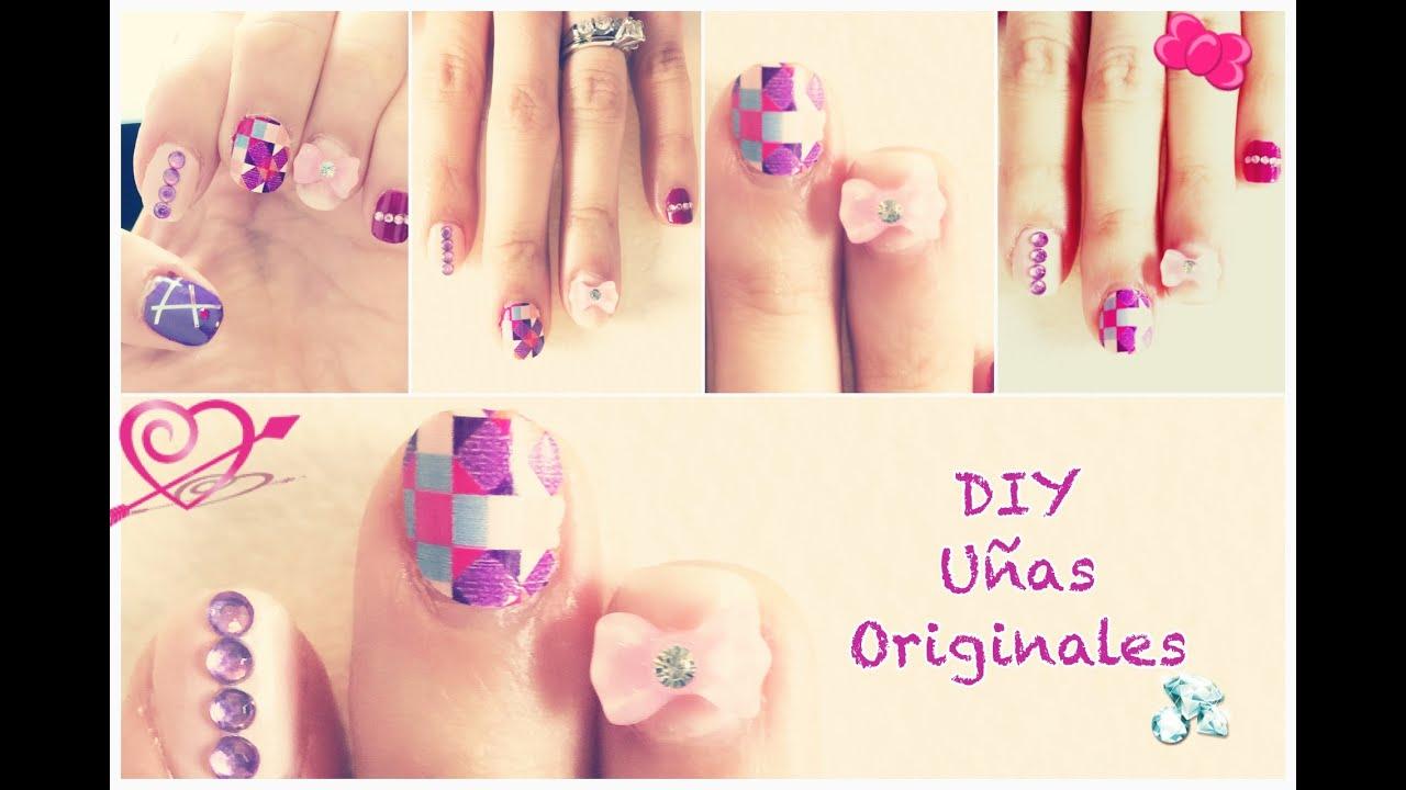 DIY: Ideas faciles y originales para pintarte las UÑAS! Nail Art ...