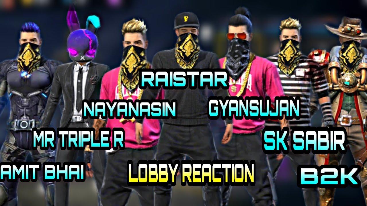 RAISTAR,AMITBHAI,NAYANASIN,SKSABIR    YOUTUBERS LOOKS LOBBY REACTION