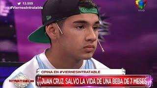 Juan Cruz Amerise, de 15 años, quien salvó con RCP a una beba de 7 meses