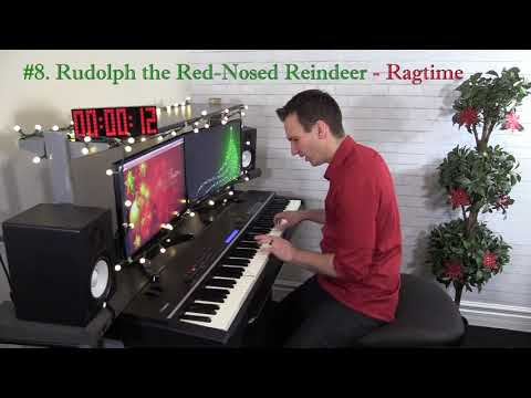 8 Christmas Songs in 6 Piano Styles in 1 Minute!  Ragtime, Jazz, Blues, & More!