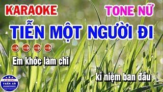 Karaoke Tiễn Một Người Đi | Nhạc Sống Tone Nữ | Karaoke Tuấn Cò