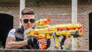 LTT Game Nerf War : Warriors SEAL X Nerf Guns Fight Braum Crazy Crime Trafficking New Bullets