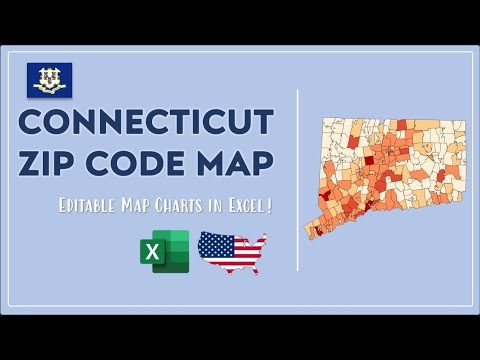 Connecticut Zip Code Map In Excel Zip Codes List And Population Map Youtube