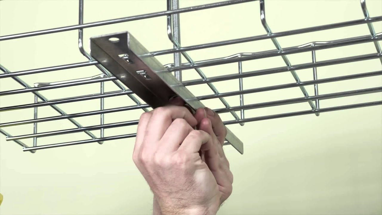 How To Install Cable Tray Ceiling Supports - YouTube