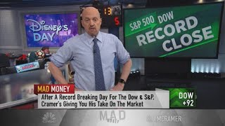 Disney shares have more upside, 'even after today's phenomenal run,' Jim Cramer says