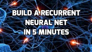 Construire une de Neurones Récurrent Net en 5 Min