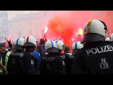 Fans von Olympique Marseille hielten vor Match gegen FC Red Bull Salzburg Polizei auf Trab