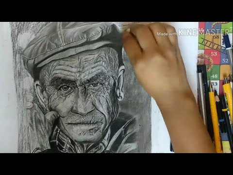 Hyper realistic old man drawing part -2 | hyper realistic sketch thumbnail