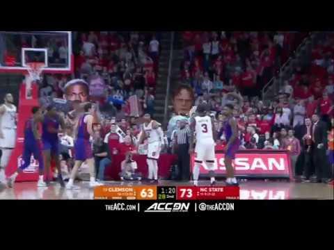 Clemson Vs North Carolina State College Basketball Condensed Game 2018