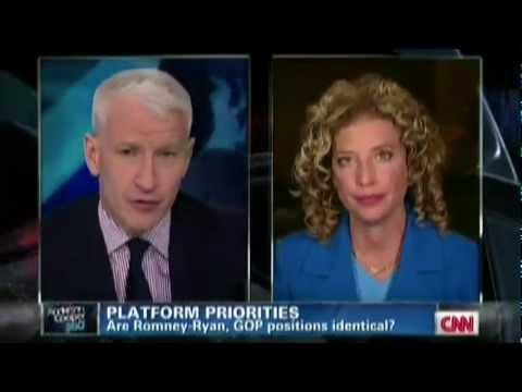 Anderson Cooper Destroys DNC Chair Debbie Wasserman Schultz on Lies about Romney