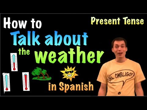 How do you say nice weather in spanish