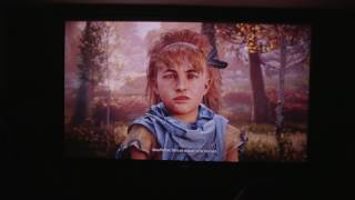 Horizon Zero Dawn PS4 Projector Gameplay [Optoma 141X]