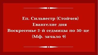 Еп. Сильвестр (Стойчев). 21.06.2020. Евангелие дня с толкованием