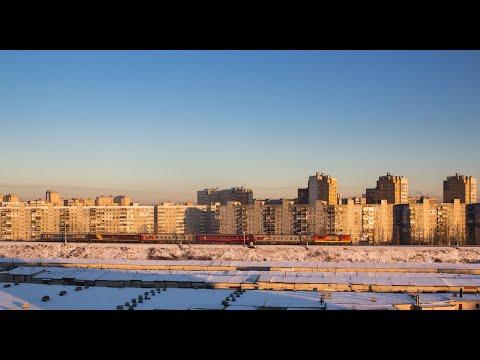 Нижний Новгород из окна поезда под стук колес