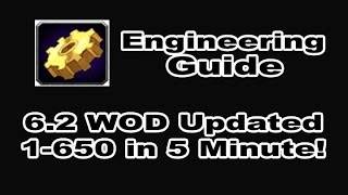 [8.0 FIXED] Engineering Profession Tutorial / Guide - 1-650 in 5 Minutes!!! WOD 6.2 Patch in WOW!