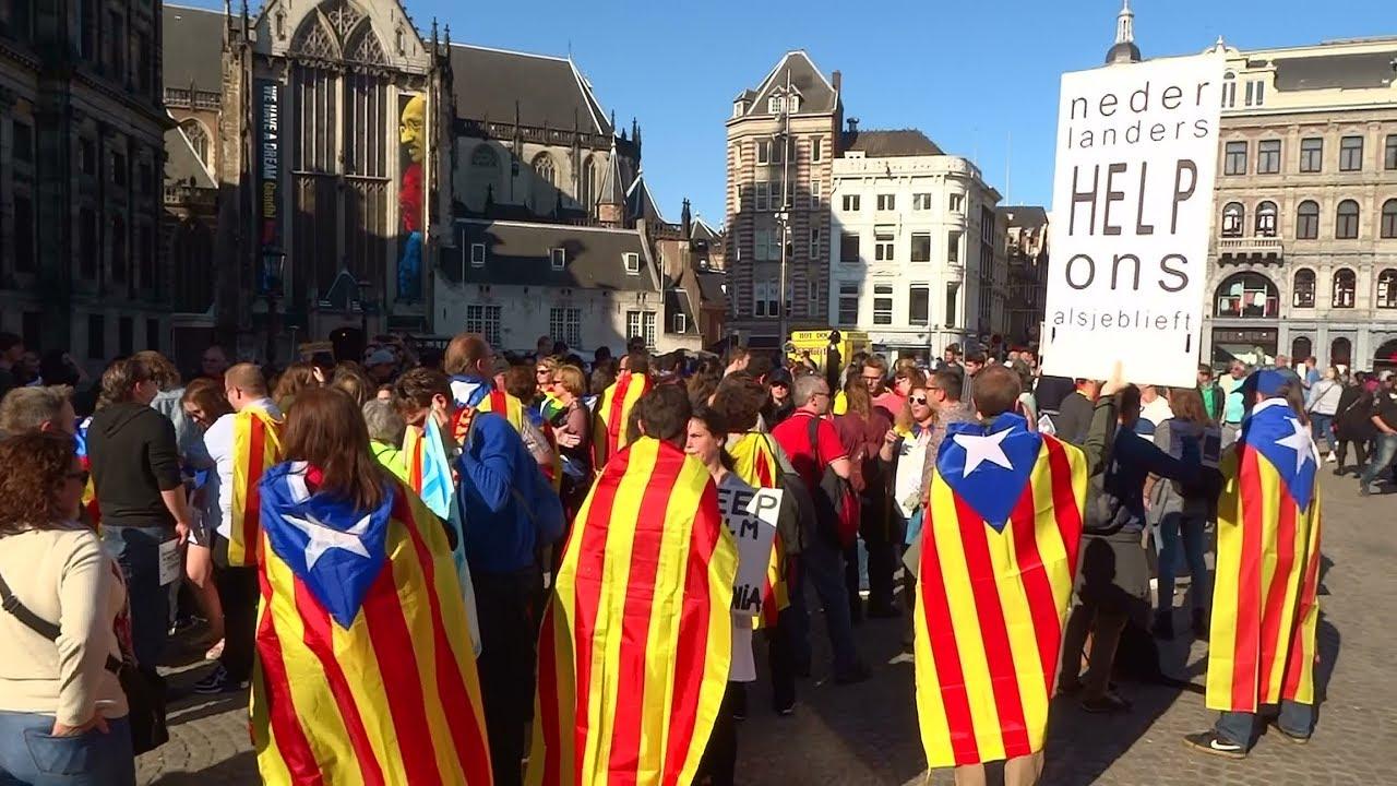 Demonstratie catalanen op de dam amsterdam voor for Demonstratie amsterdam