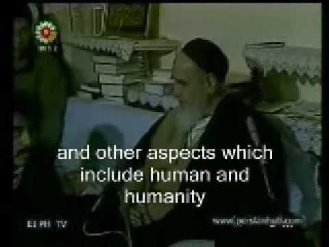 Imam Khomeini(Rh) addressing athletes